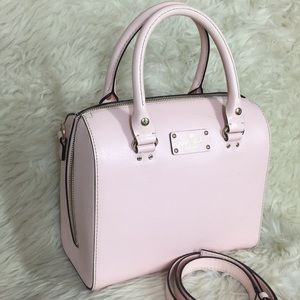 🌸OFFERS?🌸Kate Spade All Leather Blush Pink Purse